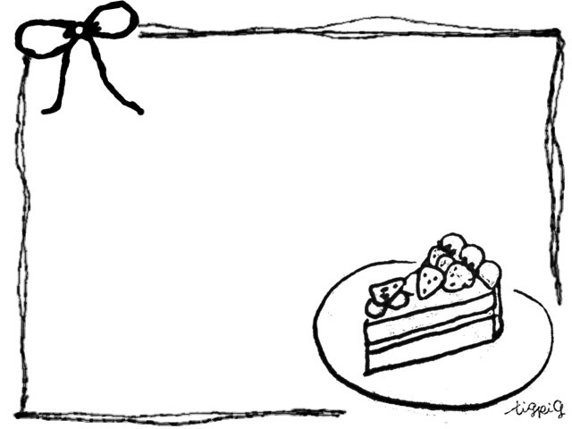 ショートケーキ イラスト おしゃれ