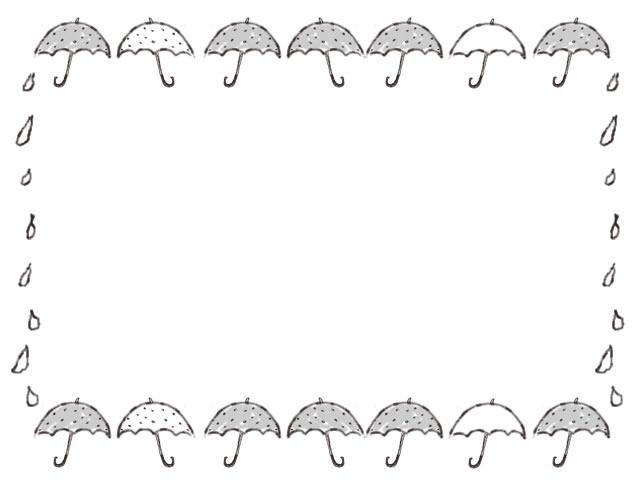 バナー広告 ネットショップのwebデザイン素材 大人可愛い水玉 ドット のモノクロの傘のイラストのフレーム 640 480pix ネットショップ制作などに使える約5000点のwebデザイン素材 Tigpig