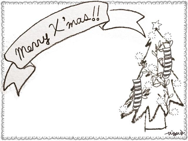 フリー素材 フレーム 北欧風のシンプルなレースの囲み枠とクリスマスツリーとmerryx Masの手書き文字のリボン 640 480pix ネットショップ制作などに使える約5000点のwebデザイン素材 Tigpig